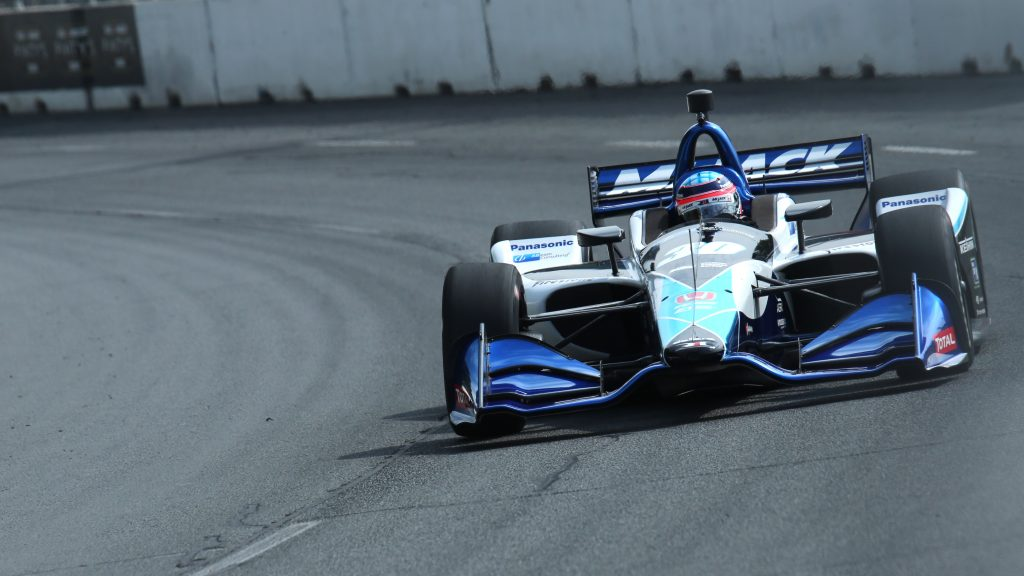 Takuma Sato sails through Turn 2 during practice for the Honda Indy Toronto -- Photo by: Matt Fraver